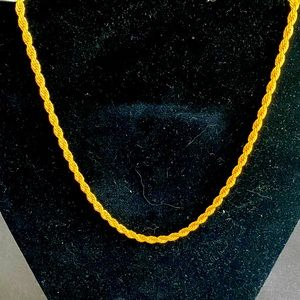 "16"" 18K GF rope necklace"